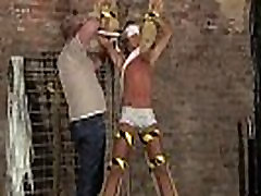 Gay twink tube japan He&039s corded up to the cross in just his
