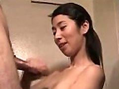 Cute amateur asian milf gets messy facial
