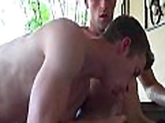 Hot gay filled with knob