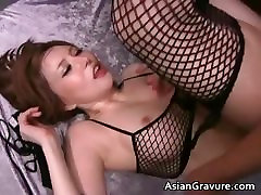 Sexy asian babe with great booty takes part2