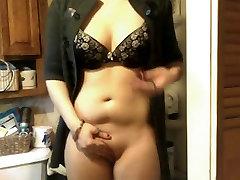 Standing masturbate and hard cum