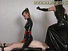 Puring wax on sub&039s small penis