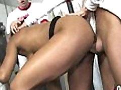 Hot ebony chick love gangbang interracial 4