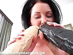 Cute European Teen Getting Stretched Out By A Brutal Dildo