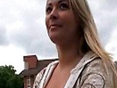 Horny couple has sex in public