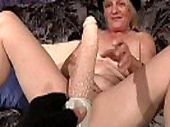 Mature german whore masturbating her twat