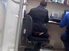 Maria exposed thong at work www.xpthongs.club