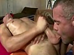 Muscled gay massage dudes anal fucking