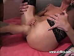 Massive anal fisting and squirting orgasms