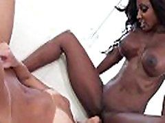 Busty ebony lezdom and MILF oral fun