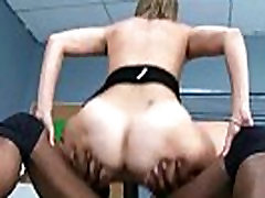 Hot MILF deepthroats gags and gets banged by a black cock 29