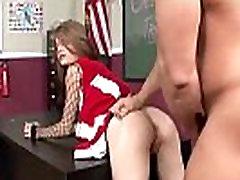 Hot emo Cheerleader gets fucked by her teacher