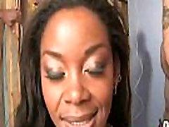 Hot ebony chick love gangbang interracial 7