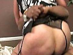 Horny MILF fucks young black stud 13