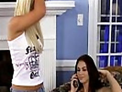 Young blonde and brunette lesbians