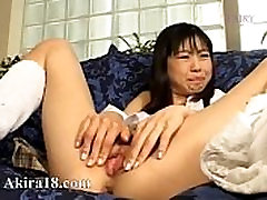 Small cock gagging from Japan