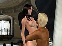 Sexy 3D cartoon brunette babe getting fucked hard