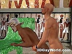 Bisexual Pharaoh Fucks Men and Women 3D Gay Cartoon Anime