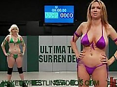 Lesbians naked wrestling and strapon cock anal fucking
