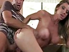 Busty milf gets pussy fucked from behind and loves it