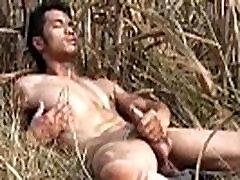 Asian Model Jerk off Outdoor