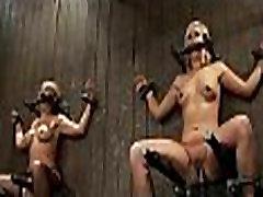 Hot pretty girl dominated in extreme round hips leg under sex