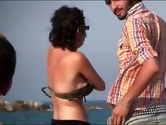 Nudism Beach Clip Cutie Spied On Voyeur Camera