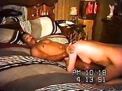 Vintage wife swinger cums hard on swarthy knob