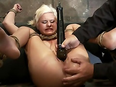 Fresh girl from Down Under suffers some putin bf foot caning One brutal squirting orgasm after anoth