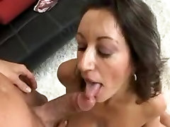 MILF honey uses her busty mature big tits on a young dick