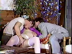 Vintage movie with French sex lovers who get fucked