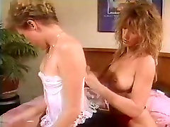 Lesbian action with two hot vintage sluts