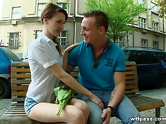 Sex with stranger story said by a alluring Elly Justin