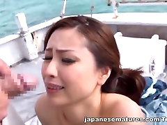 Yurie Matsushima mature Asian babe in hot outdoor action