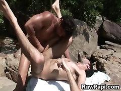 Latino Gays Outdoor Bareback Fucking