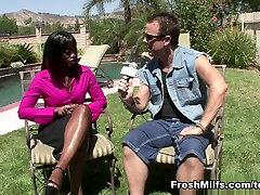 Ebony MILF Banged Out By White Meat