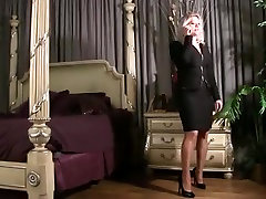 Busty blonde MILF gets all tied up BDSM style