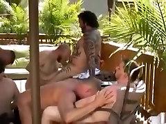 Steamy hot gay bear sex party