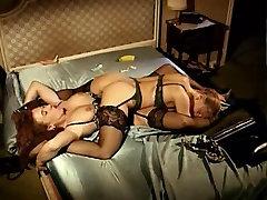 Lustful vintage lesbian sluts in 69 action on the bed