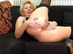 Anal with golden haired German mature