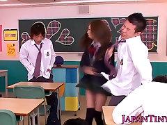 Gorgeous japanese schoolgirl pov wanks and sucks