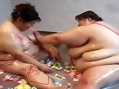 Japanese BBW lesbian couple