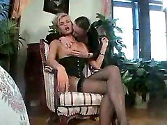 Sexy blond ladyboy in awesome lingerie