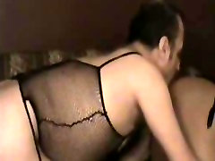 Sex hungry tranny drills a lingeried guy