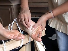 Extreme foot hate gokkun and feet needle bdsm