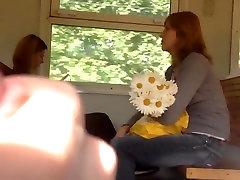 Flashing on a train