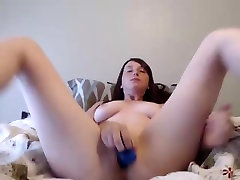 Super cute with beautiful tits masturbating