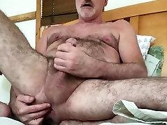 Hairy daddy sweet finger with slut hole