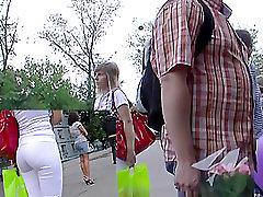 Pretty stranger in white sexy panties