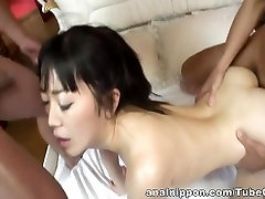 Hello Mikity Naughty Asian model gets anal creaming